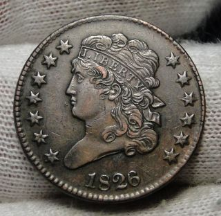 1826 Classic Head Half Cent - Coin - Rare,  Only 234,  000 Minted (2950) photo