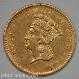 1856 Ty - 3 $1 Indian Princess Head Gold Dollar Xf/au /j - 302 photo