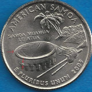 2009 - Territory State Quarter - Samoa - Three (3) Error Coin - P - Uncirc photo