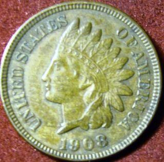 1908 Indian Head Penny Full Liberty photo