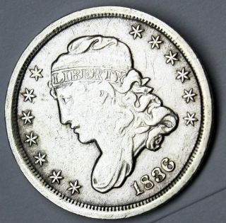 1836 Bust Half Dime Xf - Au photo