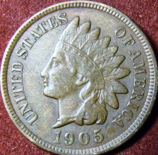 1905 Indian Head Penny Full Liberty photo