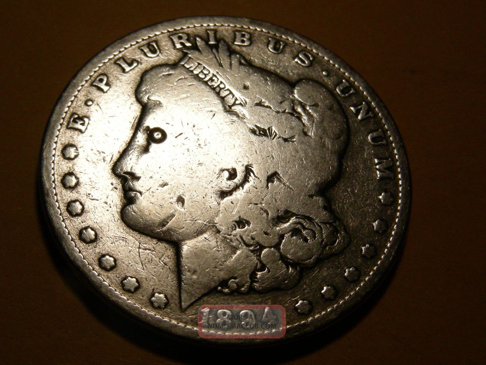 1894o Morgan Silver Dollar $1  2 Dollars photo