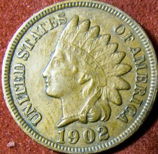 1902 Indian Head Penny Full Liberty photo