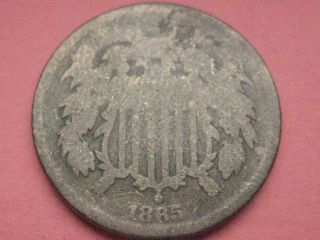 1865 Two 2 Cent Piece - Civil War Type Coin photo
