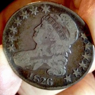 1826 Capped Bust 50c.  Vf,  (2obv Sm Nics) Sweet Big 50,  Off Reduc1/1/15 photo