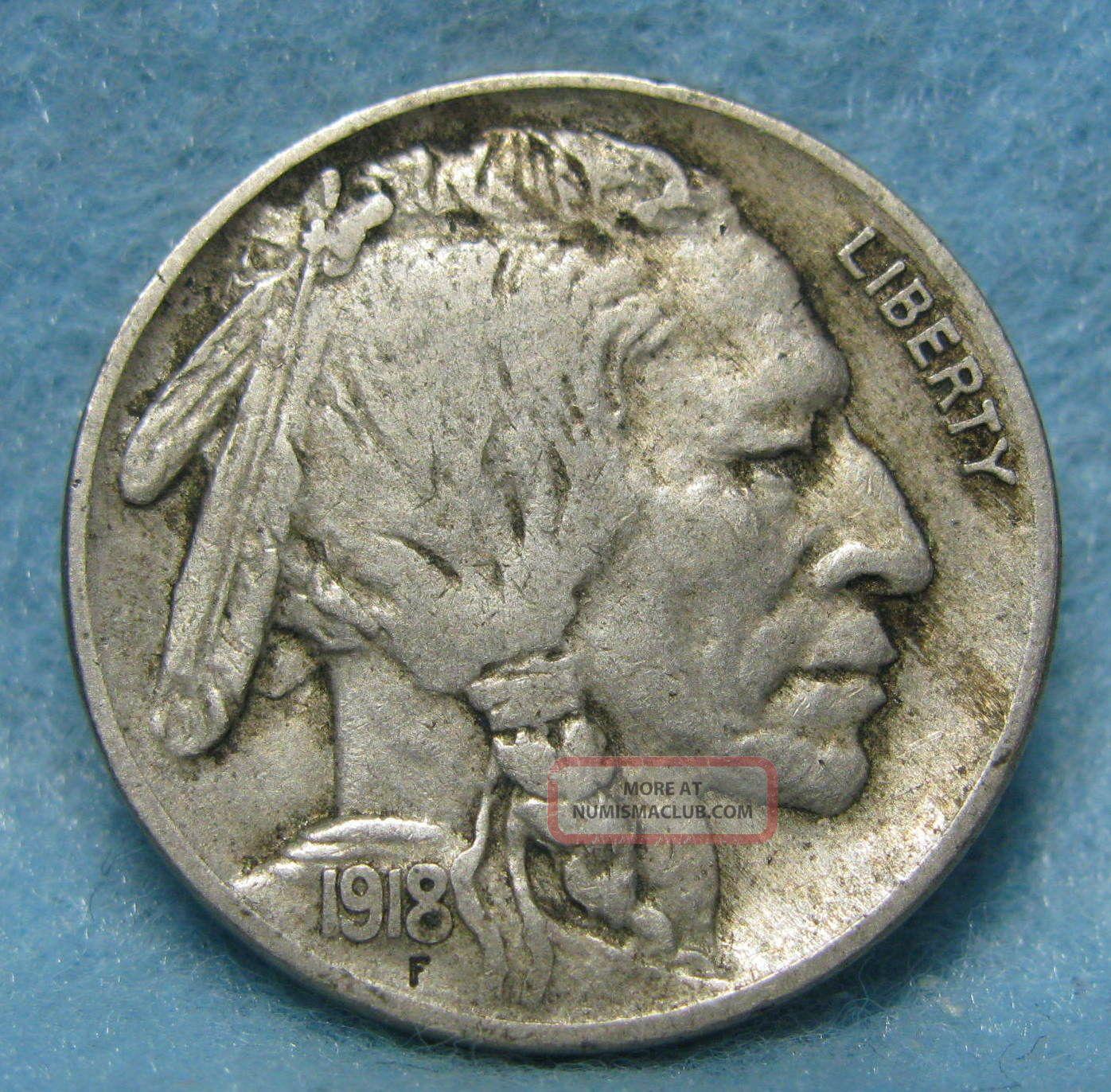 1918 Buffalo Nickel Xf
