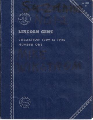 72 Different Lincoln Wheat Cents 1909 - 1940 Many Keys In Whitman 9004 Folder photo