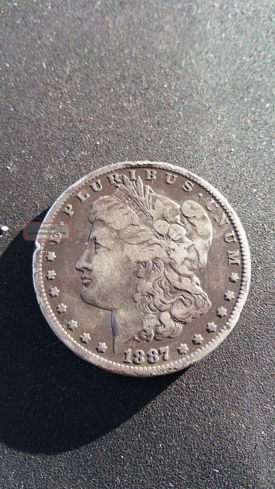 1887 Morgan Silver Dollar Us Dollars photo