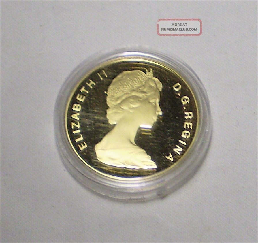 1986 Canadian 100 Dollar Coin 22k Gold Coin Proof Quality