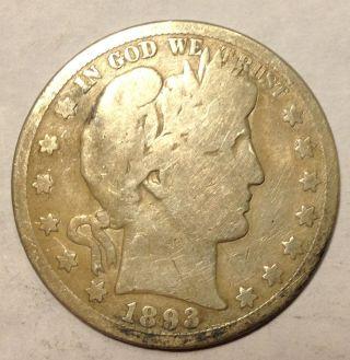 1893 S Barber Half Dollar - Key Date photo