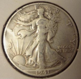 1941 Denver 50 Cent Walking Liberty Half Dollar photo