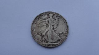 1941 - D Walking Liberty Half Dollar Vg L@@k ```3426 photo