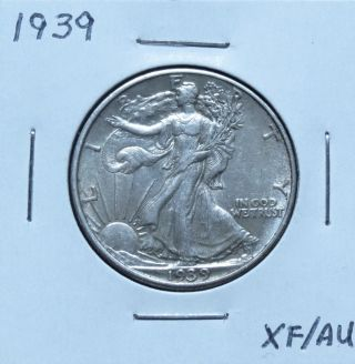 1939 Xf/au Walking Liberty Half Dollar Problem (n18yhm) photo