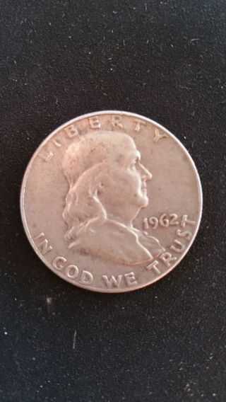 Circulated 1962 Franklin Half Dollar 90 Silver - Grade It Yourself photo