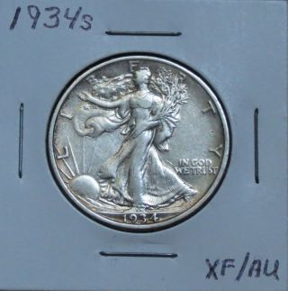 1934s Xf/au Walking Liberty Half Dollar photo
