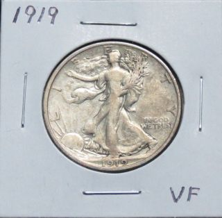 1919 Vf Walking Liberty Half Dollar Problem photo