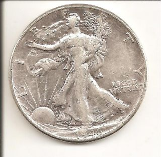 1946 Walking Liberty Half photo