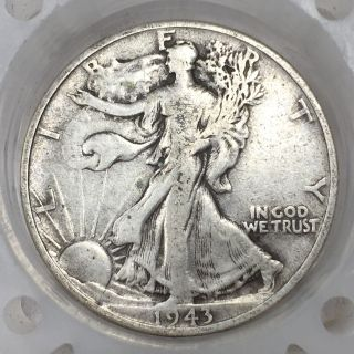 1943 - P Silver Walking Liberty Half Dollar Old Us Coin A1997 photo