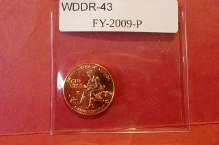Best Of 2009 Lincoln Wddr - 043 Formative Years Doubled Die Error Cent Lp2 Bu photo