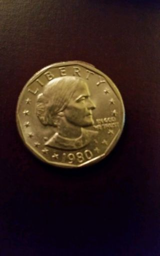 1980 $1 Susan B.  Anthony Dollar Coin photo