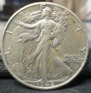 1942 - P Walking Liberty Half Dollar | Au Details | You Grade | Usps photo