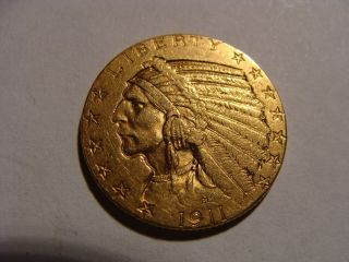1911 $5 Dollar Indian Gold - Choice Xf photo