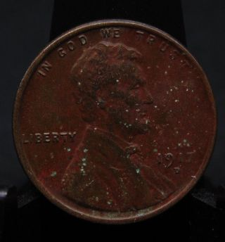 1917 D Lincoln Wheat Cent Penny About Uncirculated (1) photo