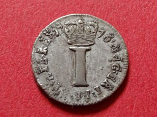 1776 Date Of Independence Silver Maundy Penny King George Iii Who Lost America photo