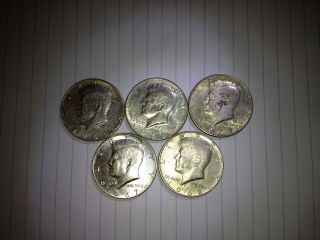 40 Silver Kennedy Half Dollars 1965 - 1968 photo