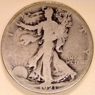 1921 - S Walking Liberty Half Dollar photo