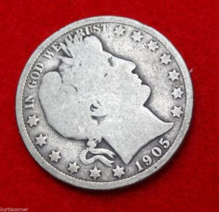 United States 1905 - O Barber Half Dollar In W/ Little Rim Bump photo