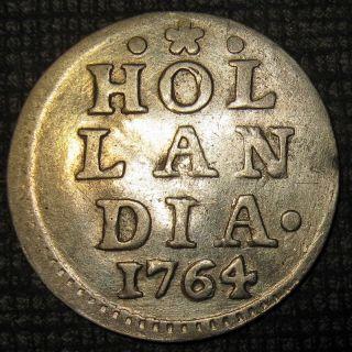 Silver 1764 Colonial Old Dutch Colonial York Half Dime Hollandia 1 - S photo