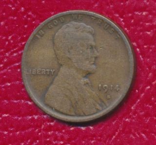 1914 - S Lincoln Wheat Cent Semi - Key Date Circulated Cent photo
