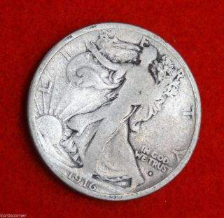 United States 1916 - S Walking Liberty Half Dollar In W/ Vg Details photo