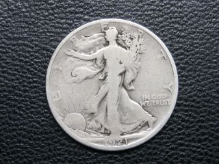 1921 - S Silver Walking Liberty Half Dollar Key Date - Coin photo
