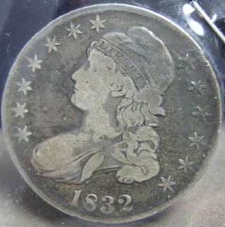 1832 Capped Bust Half Dollar - Fine S - 82 photo
