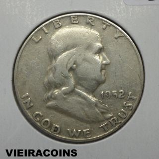 1952 - D Franklin 50 Cents - 90 Silver - - 5383 photo