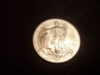 2008.  999 Us Silver Eagle Brilliant Uncirculated Outstanding Luster photo