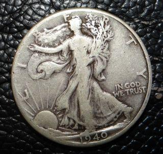 1940 P Walking Liberty Silver Half Dollar photo