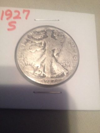 1927 S Walking Liberty Half Dollar 90 Silver photo