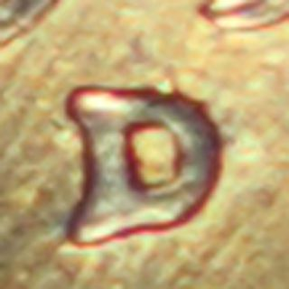 1957 - D/d Lincoln Cent In Red Choice Unc Repunched D Mintmark Scarce Variety photo