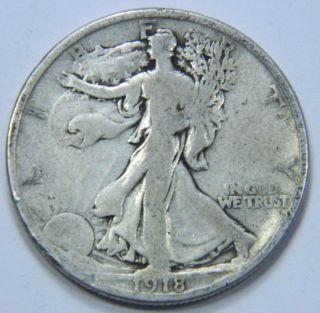 1918 - P U.  S.  Walking Liberty Silver Half Dollar Coin - You Grade - 122911 photo