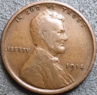 1914 Lincoln Wheat Cent.  E146 photo