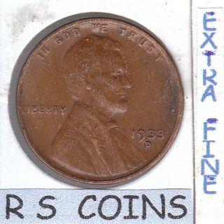 1933 D Extra Fine Lincoln Cent 6054 photo