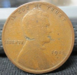 1915 - D Wheat Penny | G Details | You Grade | Usps photo