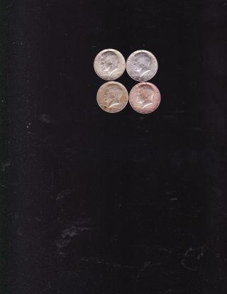 1964 Kennedy Half Dollar 90 & 2x 1965 1x 1968 Half Dollars 40 photo