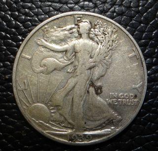 1939 P Walking Liberty Silver Half Dollar photo