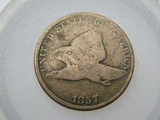 1857 Flying Eagle Cent 3 photo