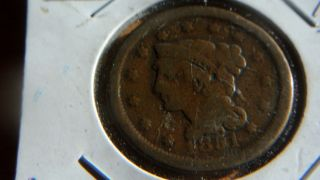 1851 Large Cent photo